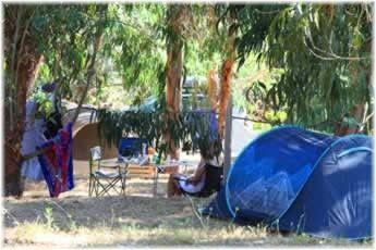 Camping Aire Naturelle du Soleil in Appietto. Kleine camping ten noorden van Ajaccio