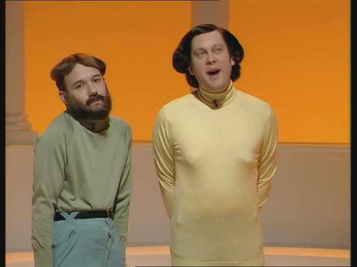 Vic Reeves and Bob Mortimer (as Dermot Mulligan and Dermot O'Hare)