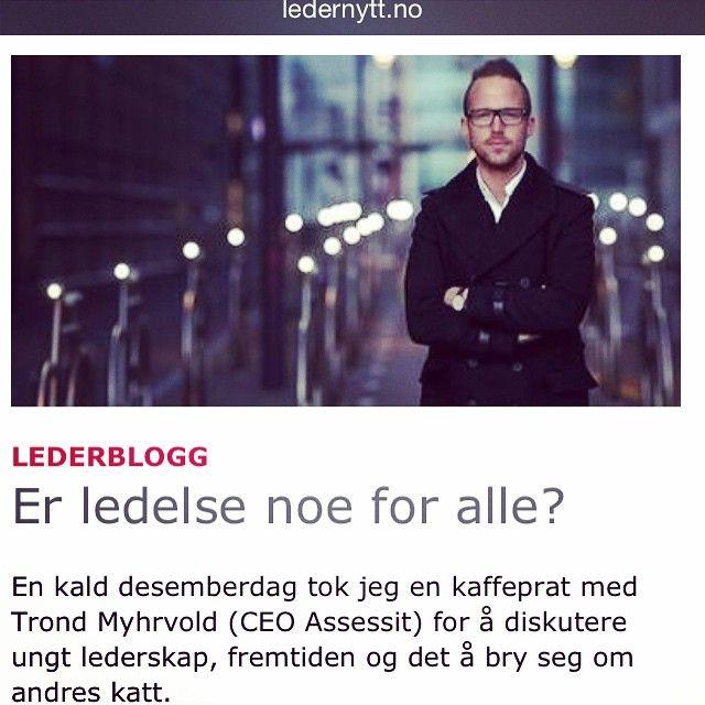 Er ledelse noe for alle? ChristofferHovde.com LEDELSE, KOMMUNIKASJON OG MANGFOLD.