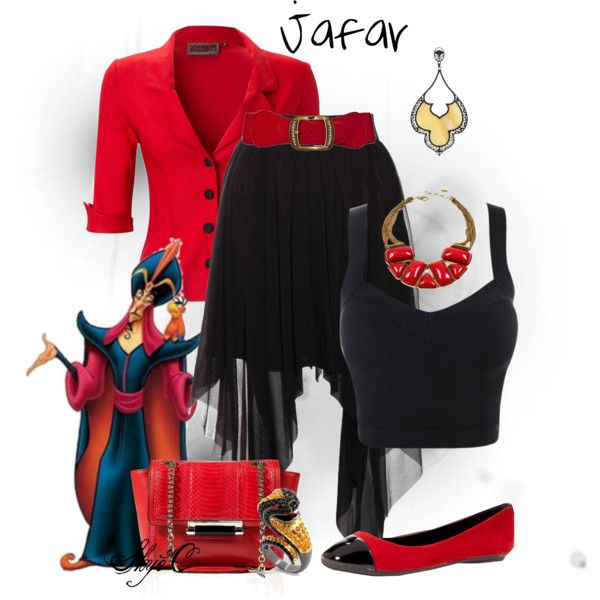 Jafar - Disney's Aladdin by rubytyra on Polyvore featuring Rare London, Bamboo, Diane Von Furstenberg, Amrita Singh, Fantasy Jewelry Box and LK Designs