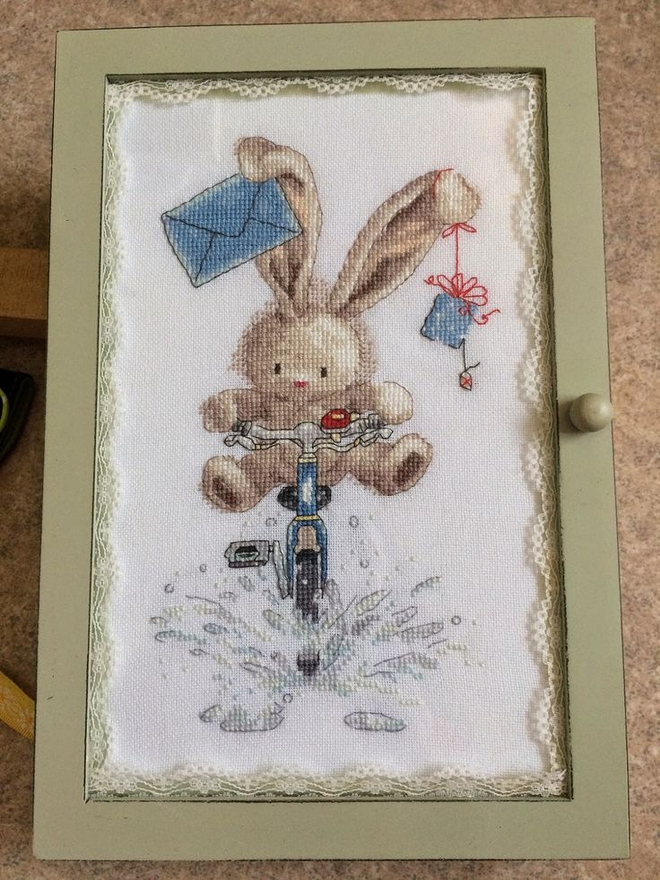 A needle and some thread: Bebunni chart that I finished as a small cabinet (or case or box or...)