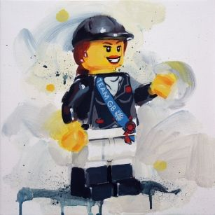 Team GB Lego Equestrian from James Paterson available from Evergreen Art Cafe