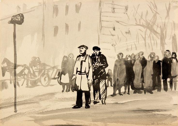 Żałobna wieść V - Andrzej Wróblewski (1953)
