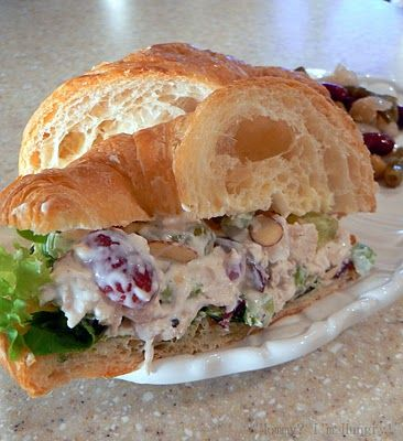 Chicken Salad With Grapes On Croissants {from my mom!}