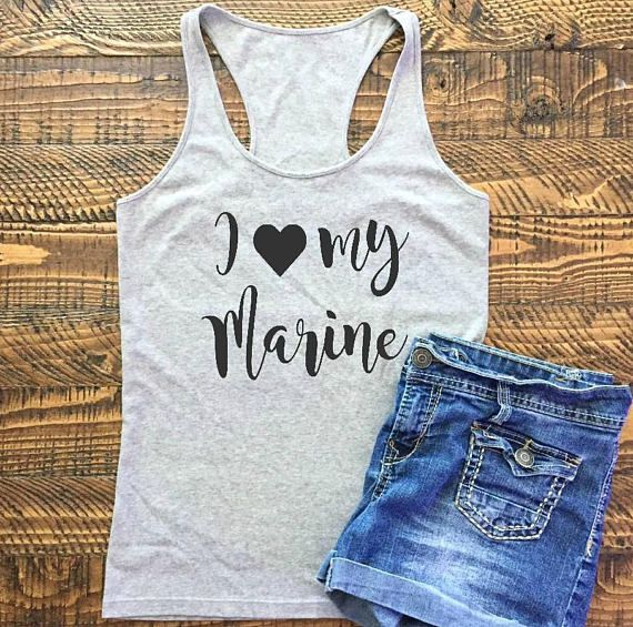 Marine Wife Shirt Marine Girlfriend Shirt Marine Tanks
