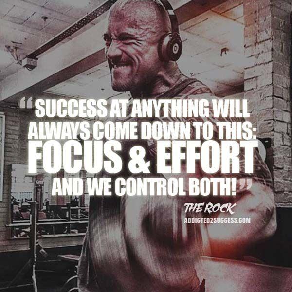 Dwayne Johnson The Rock Motivation Quote about Success