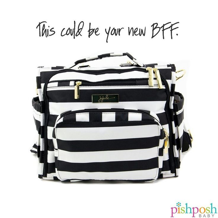 Jujube's BFF bag does what any BFF would do - backs you up when you need help the most. Be that mom who seems to have EVERYTHING in her  bag. More than a dozen colors to choose from! (shown: Jujube BFF in The First Lady) Shop our entire Jujube collection on our site!   http://www.pishposhbaby.com/ju-ju-be-bff.html