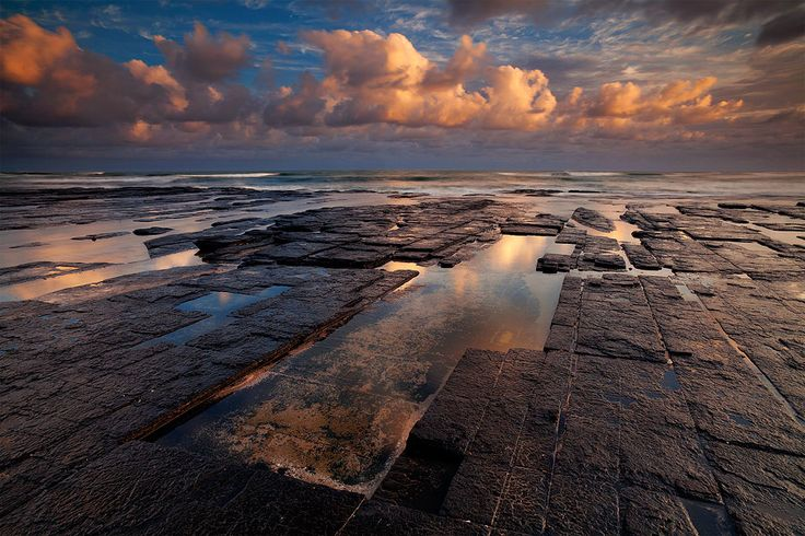 Seascape sunset image in the Dwesa Nature Reserve on South Africa's Wild Coast