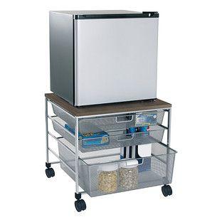 Platinum elfa Mesh Compact Fridge Cart