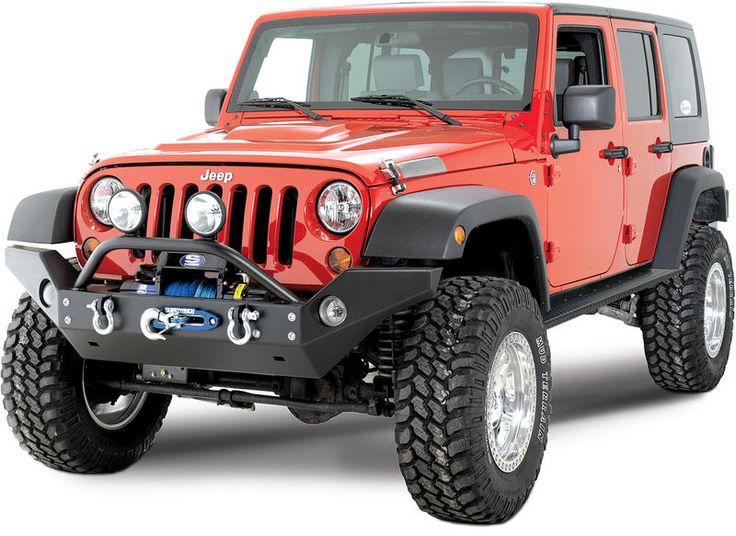 Rock Hard 4X4 Parts Full Width Front Bumper for 07-17 Jeep® Wrangler & Wrangler Unlimited JK | Quadratec