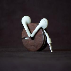 #wood earbud holder
