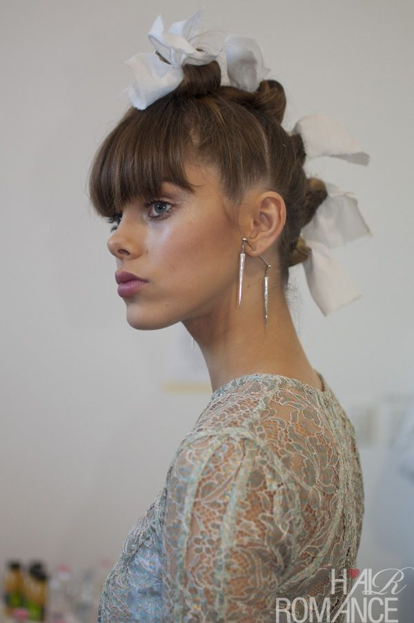 rag roll curls at Zimmerman - love the faux-hawk: Hair Ideas, Cool Hairstyles, Rolls Hairstyles, Bridel Hairstyles, Roll Curl, Hair Beauty, Rag Roll, Hair Inspiration, Earrings