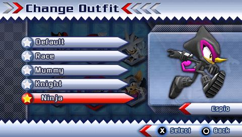 Espio s Ninja Suit from the official artwork set for #SonicRivals2 on #PSP. #Sonic. #SonictheHedgehog http://sonicscene.net/sonic-rivals-2
