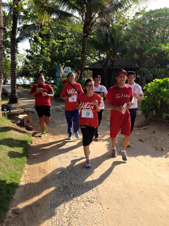 Here is our 1st Annual Marriott Takecare Virtual 5K race  ‪#‎CourtyardNusaDua‬ ‪#‎CourtyardBali‬ ‪#‎Marriott‬ ‪#‎TakeCare5k‬ ‪#‎Bali‬