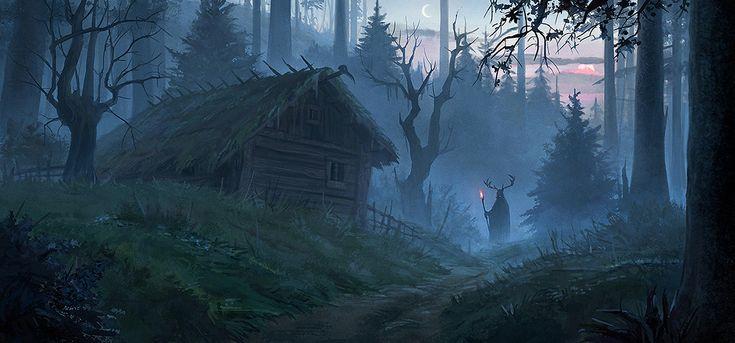 Посмотреть иллюстрацию Александра Павлович - Колдовской лес. Иллюстрация к…