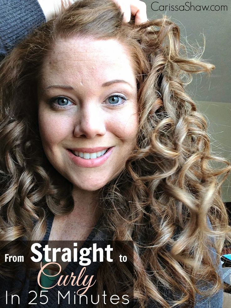 From Straight to Curly in 25 Minutes!