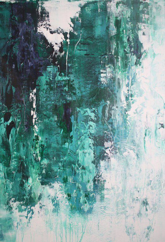 XL vert minimaliste Art moderne / peinture