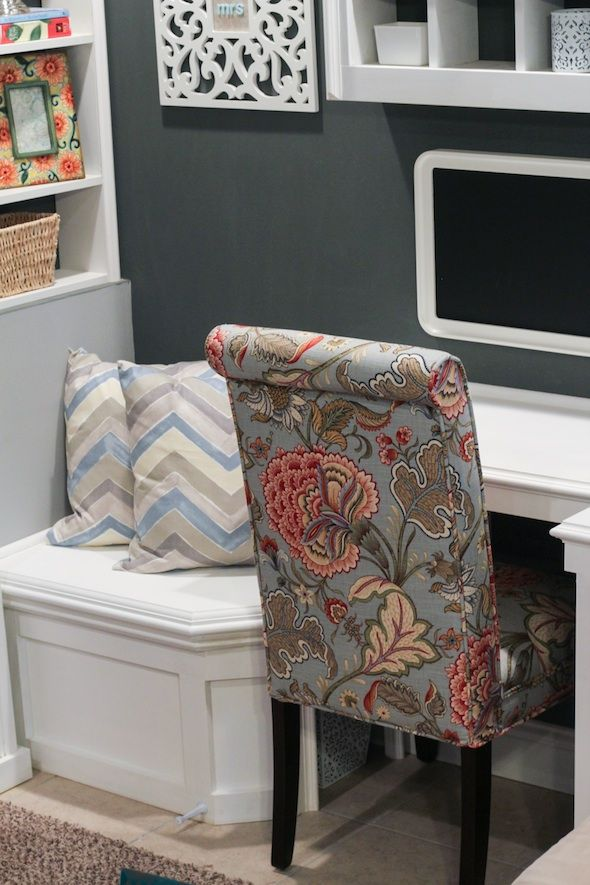 Office Nook - Custom Built-In for Basement.  Perfect for covering the sump pump.