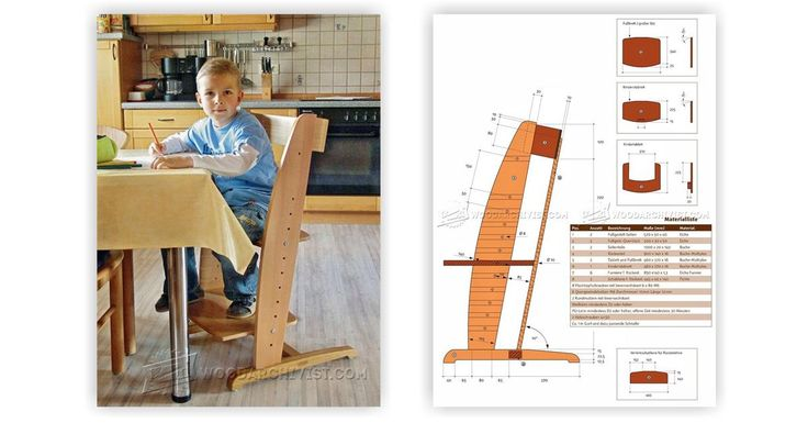 Wooden High Chair Plans - Children's Furniture Plans and Projects   WoodArchivist.com