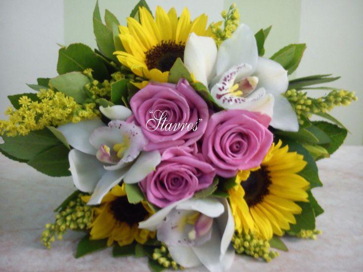 #sunflowers#roses#cymbydium