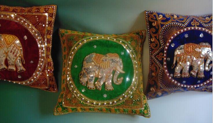 Spdny01, 42 * 42 cm, elefante tailandés almohada hechos a mano de lentejuelas bordado con cuentas de sección de la cubierta del sofá traje suave decoración de la tela en Cojines de Casa y Jardín en AliExpress.com | Alibaba Group