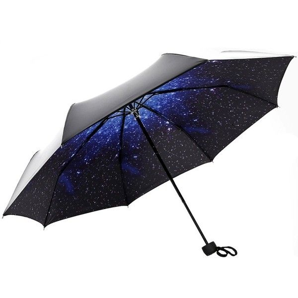 MyLifeUNIT Starry Star Sky Automatic Folding Compact Umbrella ($20) ❤ liked on Polyvore featuring accessories, umbrellas and folding umbrella