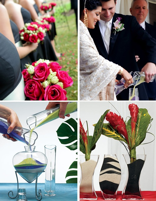 Some great things to do with unity sand!  I love the idea of placing flowers in the vase!!