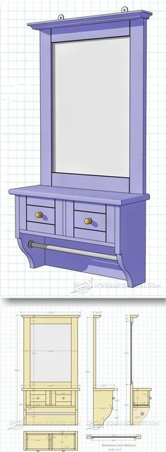 Wall Mirror Plans- Woodworking Plans and Projects | WoodArchivist.com