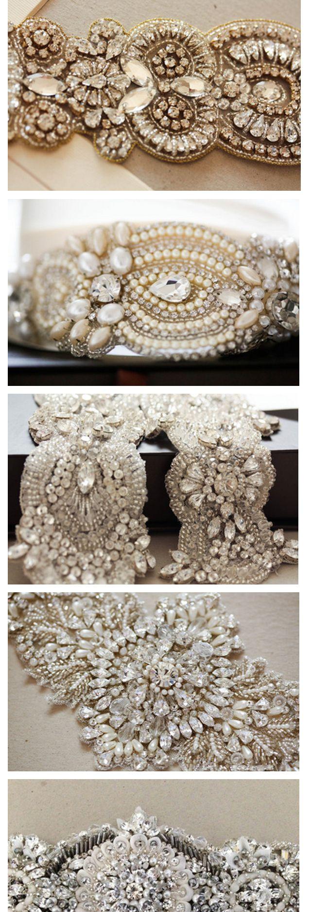 Gorgeous bridal belts & sashes