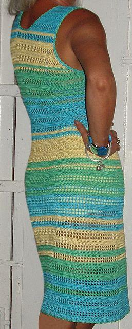Ravelry: Striped Summer Dress.    Crochet Pattern by  Ingunn Santini