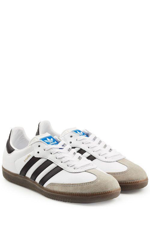 ADIDAS ORIGINALS Samba Suede And Leather Sneakers. #adidasoriginals #shoes #