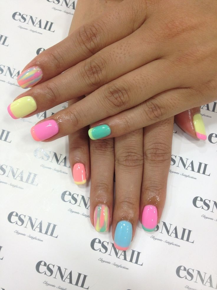 Nail Art - Nail Salon blog ~ AmebaGG daily es nail ... | image of casual pop nail ♪