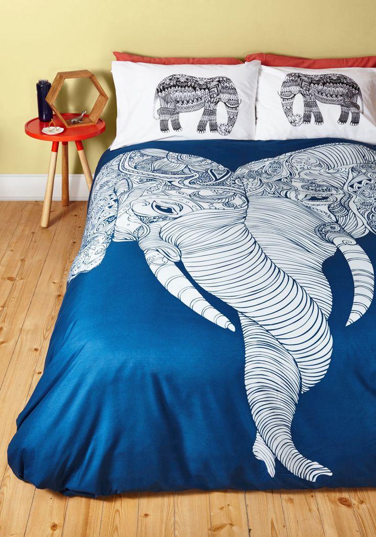 Me and Unite Duvet Cover in Full/Queen - Safari, Best, Blue, White, Print with Animals, Dorm Decor