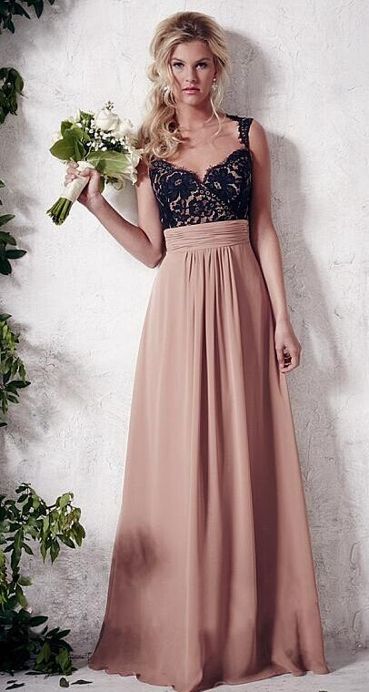 Graceful two toned bridesmaid dresses!