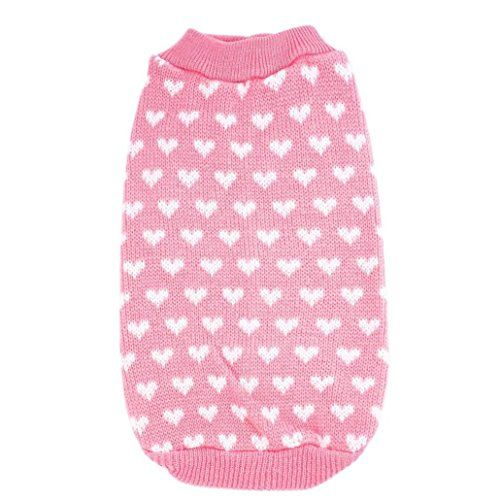 Dreaman Puppy Pet Love Heart Pet Dog Sweater (XS)
