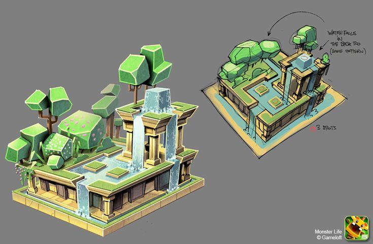 Monster Life - Egypt - Babylone Gardens by joslin.deviantart.com on @deviantART