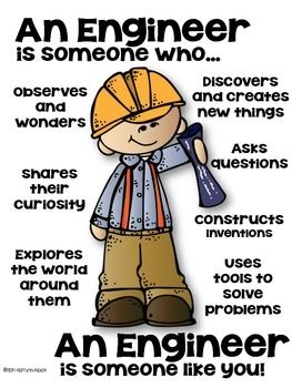 You are an engineer poster for elementary! Set 2!