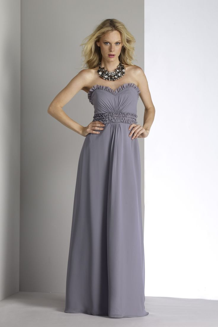 charcoal sweetheart bridesmaid dress floor length a-line bridesmaid gown