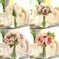 £1.98 ....1 Bunch Artificial Peony Flowers DIY Craft Wedding Party Decoration New