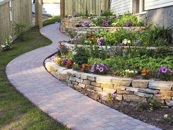 Perfect Tiered Gardening For Behind Our Garage