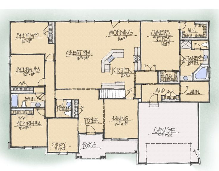 19 best floor plan inspirations images on pinterest for Best floor plan ever