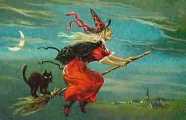 While most Americans will probably recognize the above image as a witch, a possibly evil character associated with Halloween in the U.S., many Italians would see a motherly figure who keeps a clean house (hence the broom) and gives candy or coal to children.  The character's name is Befana.