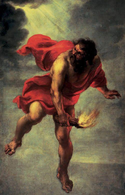 Jan Cossiers, Prometeo ruba il fuoco, XVII sec.