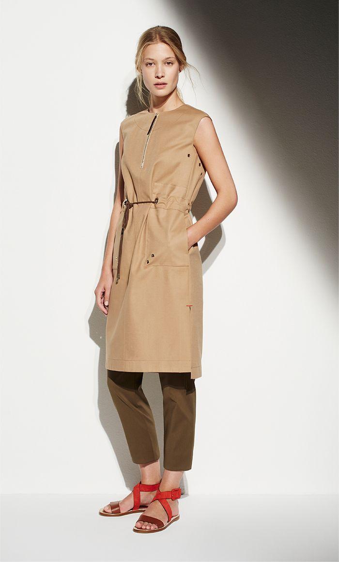 Vestido recto de algodón