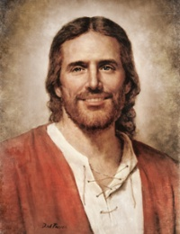 a smiling picture of Christ... I love this.