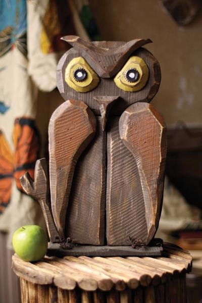 Hoot Who Goes There Wooden Owl