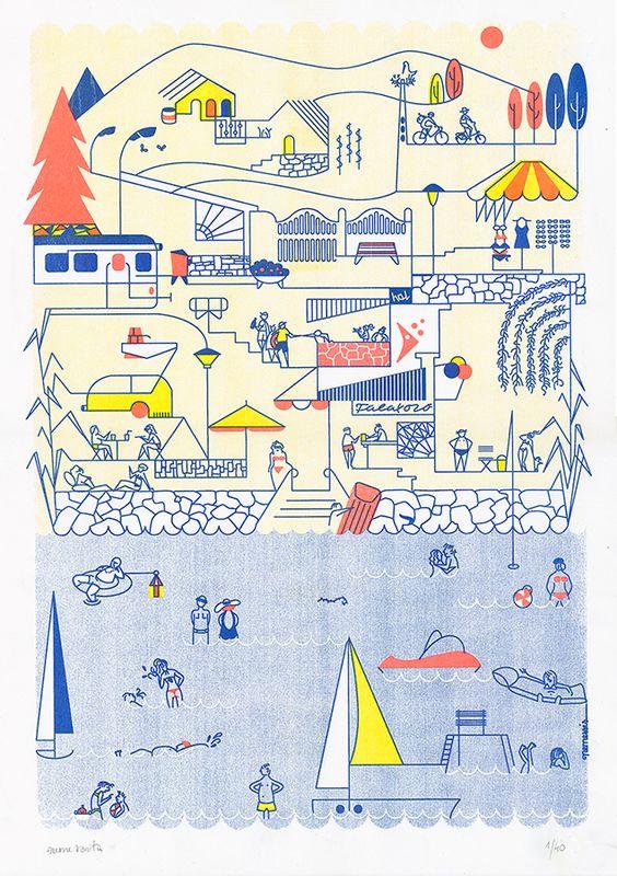 Anita Nemes - Balaton signed and numbered print http://www.magma.hu/muveszek.php?id=147