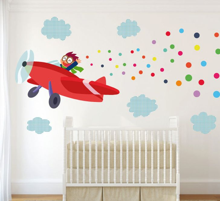 Vinilos infantiles para el cuarto del beb sons tes and for Pared habitacion infantil