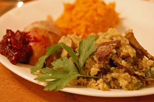 quinoa mushroom stuffing   can't be beet   Pinterest
