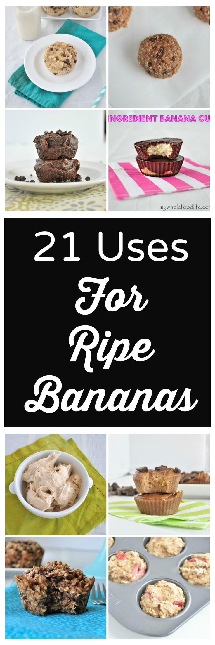 Uses for Ripe Bananas.  Super easy recipes your family will love.  Vegan and gluten free.  Many are also grain free!